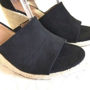 attention Shoes - 🆕 Attention size 11 Espadrille Wedge Heels Black